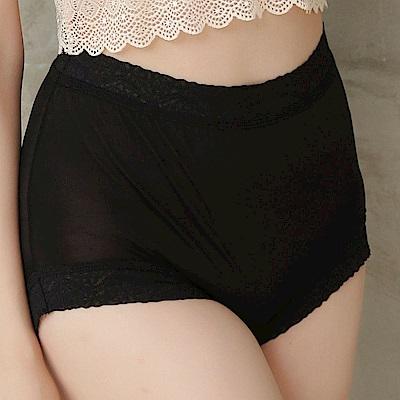 內褲 細緻40針100%蠶絲高腰三角內褲 (黑) Chlansilk 闕蘭絹