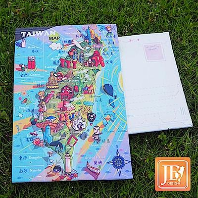 JB DESIGN-文創畫布明信片-125_歡樂台灣島