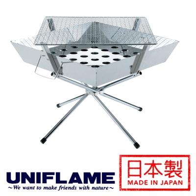 【日本 UNIFLAME】經典焚火台│烤肉架 (大) 683071