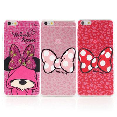 Disney iphone 6 plus / 6s plus 彩繪豹紋系列透明保...
