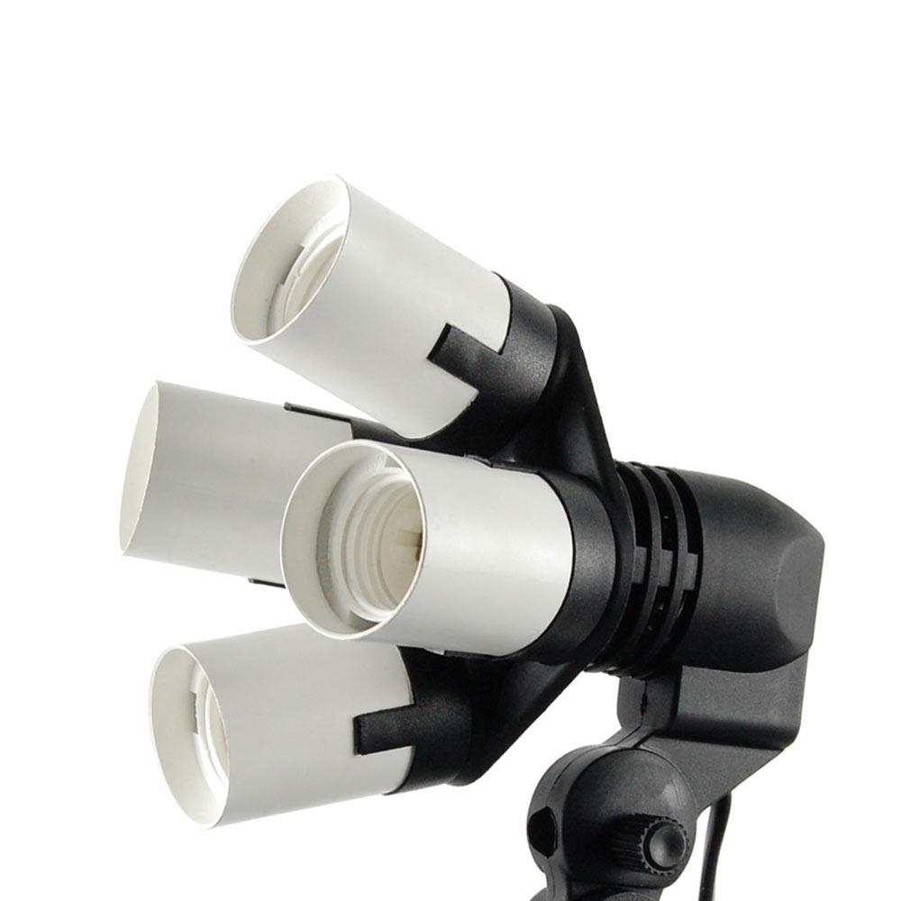 攝影棚專用四聯燈座E27標準規格1轉4燈座