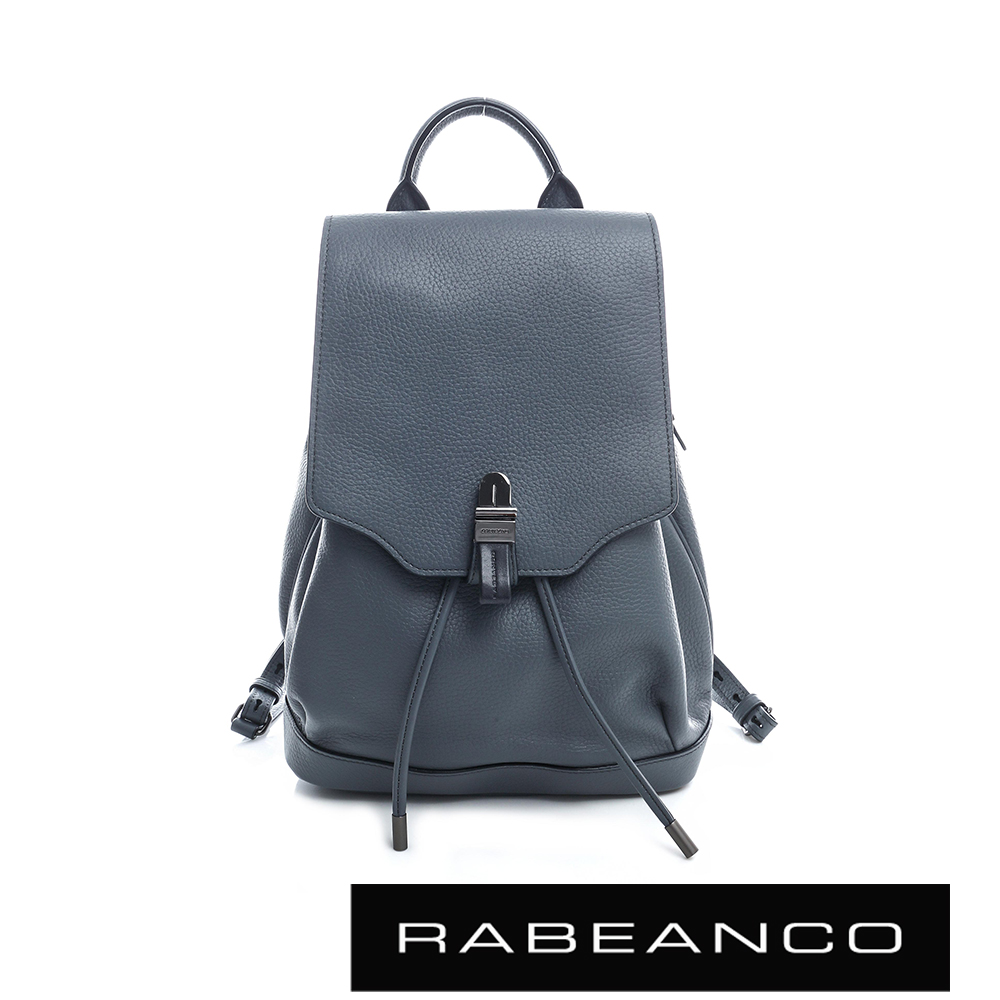 RABEANCO經典壓扣設計束口後背包-暗灰藍