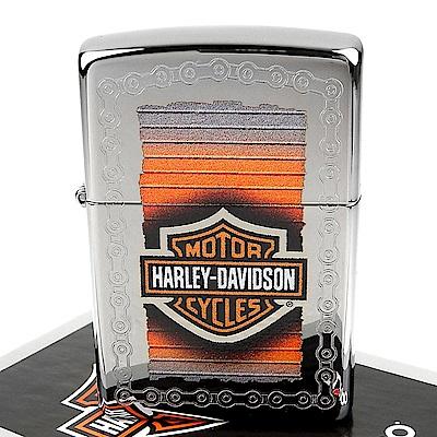 ZIPPO 美系~哈雷~Harley-Davidson-鍊條圖案打火機