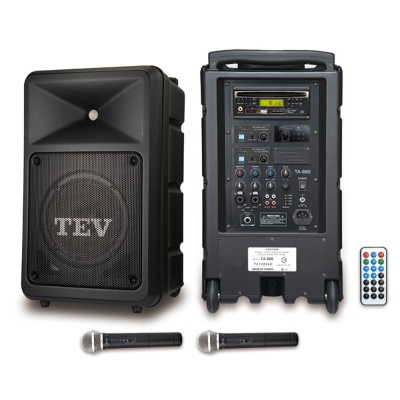 TEV 藍芽/DVD/USB/SD雙頻無線擴音機 TA680iD-2
