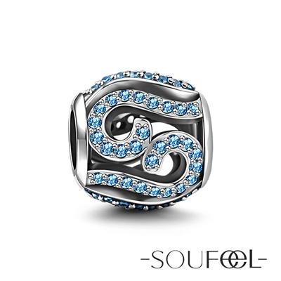 SOUFEEL索菲爾 925純銀珠飾 海浪 串珠