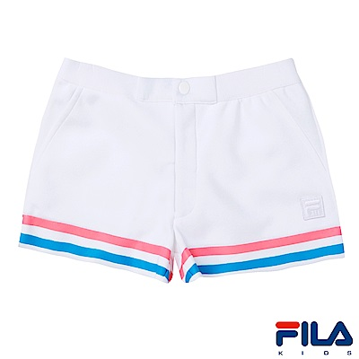 FILA KIDS #東京企劃 女童針織短褲-白5SHS-4457-WT