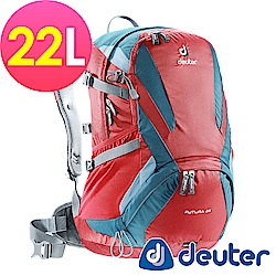 【ATUNAS 歐都納】德國DEUTER 網架直立式透氣登山後背包22L/34204漿果紅