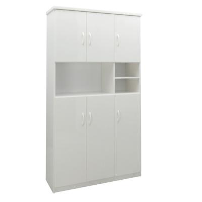 品家居 雅格3.2尺環保塑鋼六門鞋櫃(五色可選)-97x33x180cm-免組