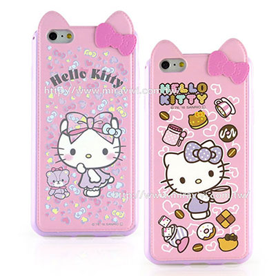 Sanrio iphone6 plus/6s plus 皮革耳朵造型保護套-Q版