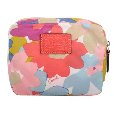 COACH-POPPY彩色花朵子母輕巧收納購物袋