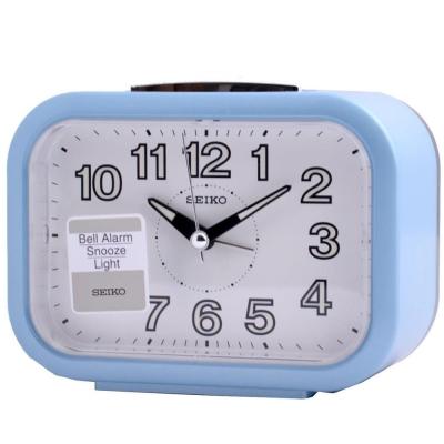 SEIKO 亮麗的生活貪睡鬧鐘(QHK026L)-淡藍色