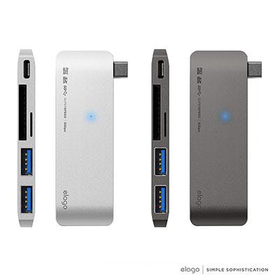 elago USB 3.0 Type C 鋁合金5合1擴充座