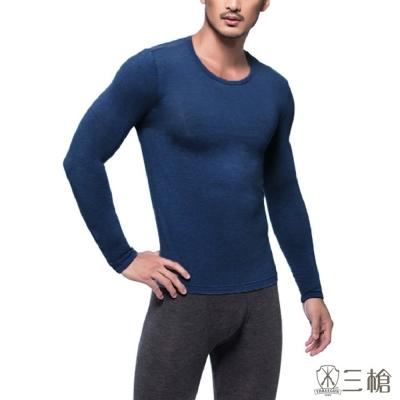 三槍牌時尚經典2件組丈青 台灣製舒適男長袖TG-HEAT發熱衣