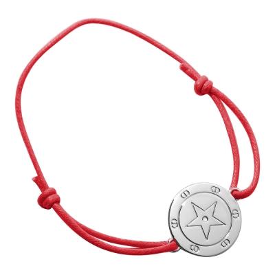 Dior迪奧 幸運星艷紅簡約風手鍊