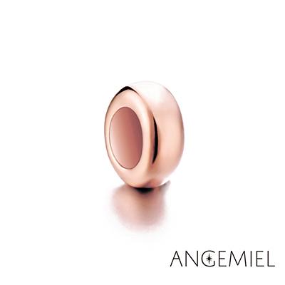 Angemiel安婕米 925純銀 固定珠 簡約(玫瑰金)