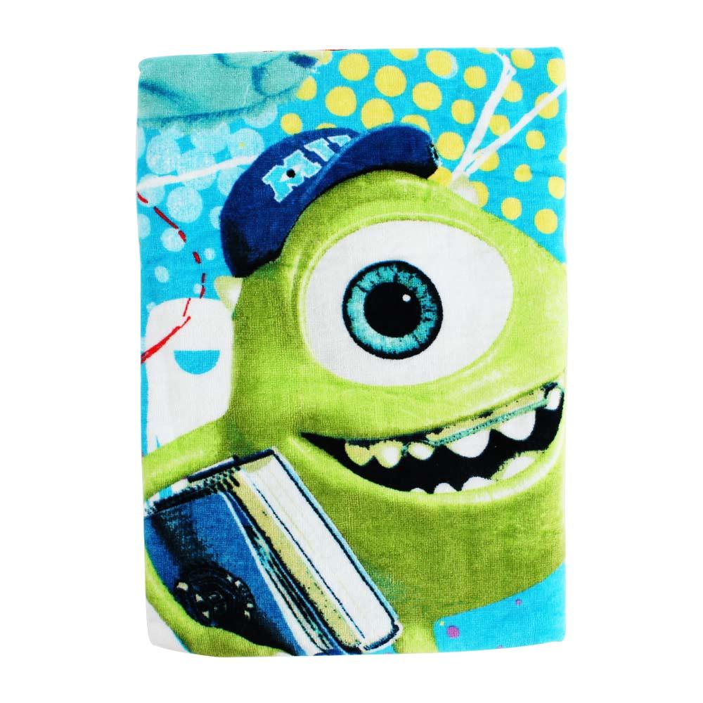 怪獸大學-開學塗鴉100%純棉浴巾(藍)