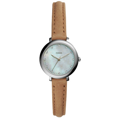FOSSIL 婉約佳人時尚晶鑽腕錶-ES 4084 / 27 mm