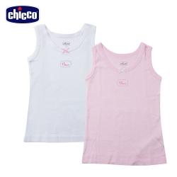 chicco-寬肩帶女童背心二入