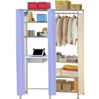 巴塞隆納-W4型60公分+E60公分電腦桌衣櫥架