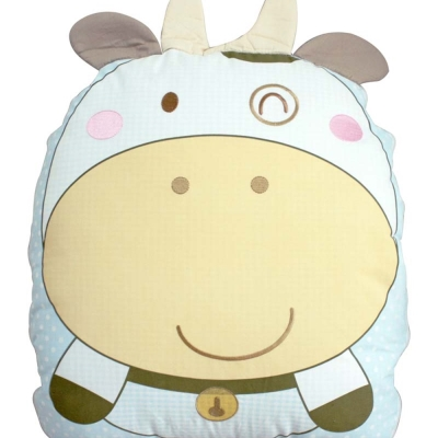 GMP BABY 台灣製純棉牛寶寶造型收納被 90*120 藍