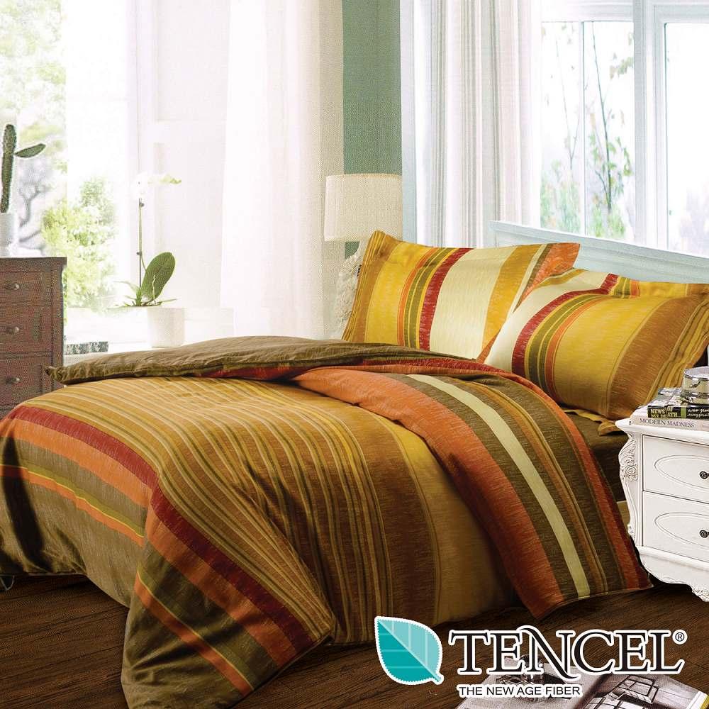 夢工場 和喣微光天絲雙人五件式床罩組