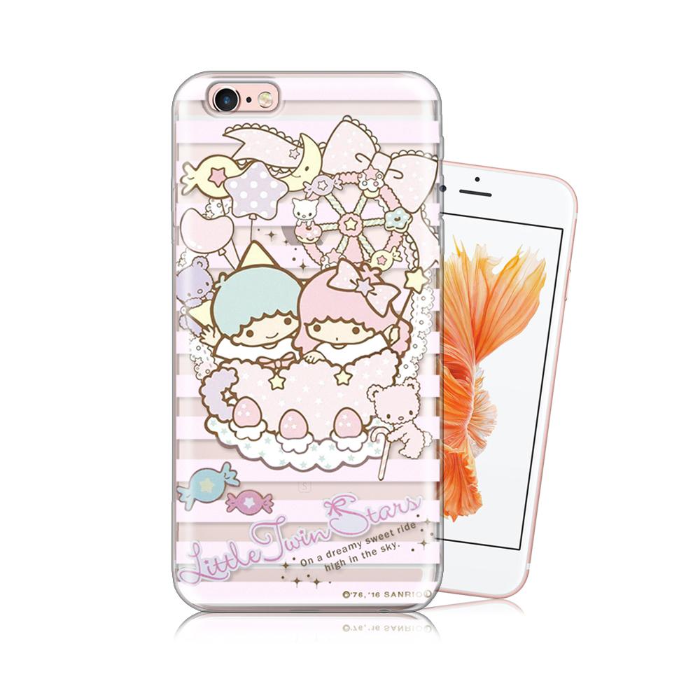 三麗鷗正版 雙子星 iPhone 6/6s 4.7吋 透明軟式保護殼(花籃)