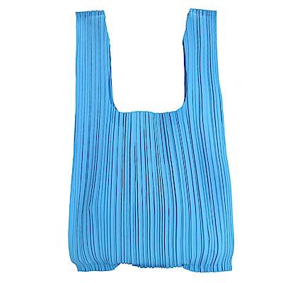 ISSEY MIYAKE 三宅一生PLEATS PLEASE 褶皺購物袋(海洋藍)