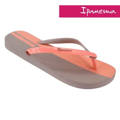 IPANEMA 雙色夏日人字拖鞋-米色/粉色