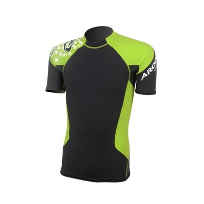 AROPEC Compression II 男款運動機能壓力衣 短袖 黑/萊姆綠