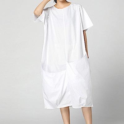 立體口袋顯瘦澎鬆層次洋裝-(共三色)Andstyle