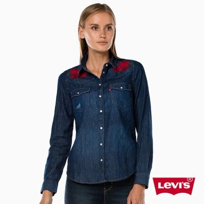 牛仔襯衫 女裝 玫瑰刺繡 - Levis