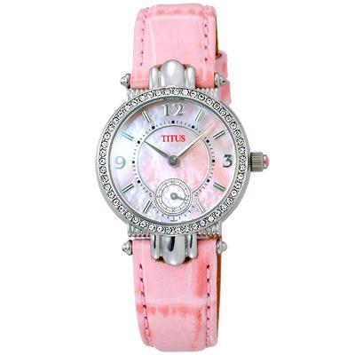 TITUS 鐵達時 時尚公主氣質腕錶(粉紅)
