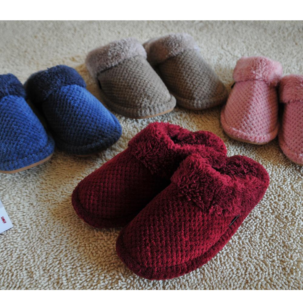 ego life珊瑚絨加厚冬季男女包頭家居室內拖鞋