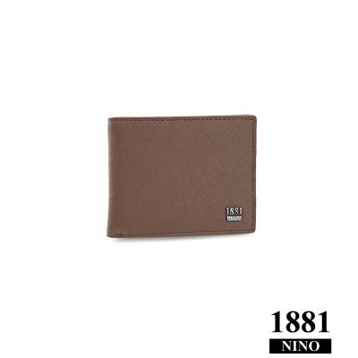 Nino1881–風格男人十字紋多卡零錢包短夾 - 咖