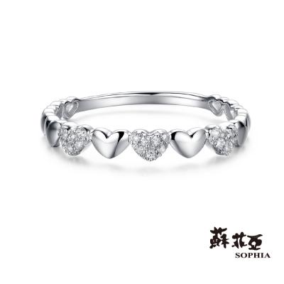 蘇菲亞SOPHIA 鑽戒 - 立體愛心14K線戒