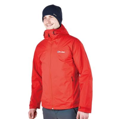 【Berghaus貝豪斯】男款2合1刷毛防水外套H22MT2-紅