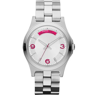 Marc Jacobs 時尚青春魅力腕錶-銀/40mm