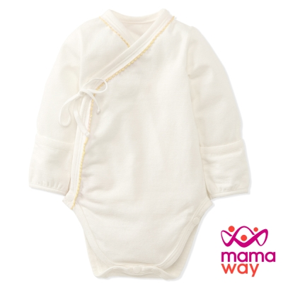 Mamaway 新生兒內著包屁衣(黃色)
