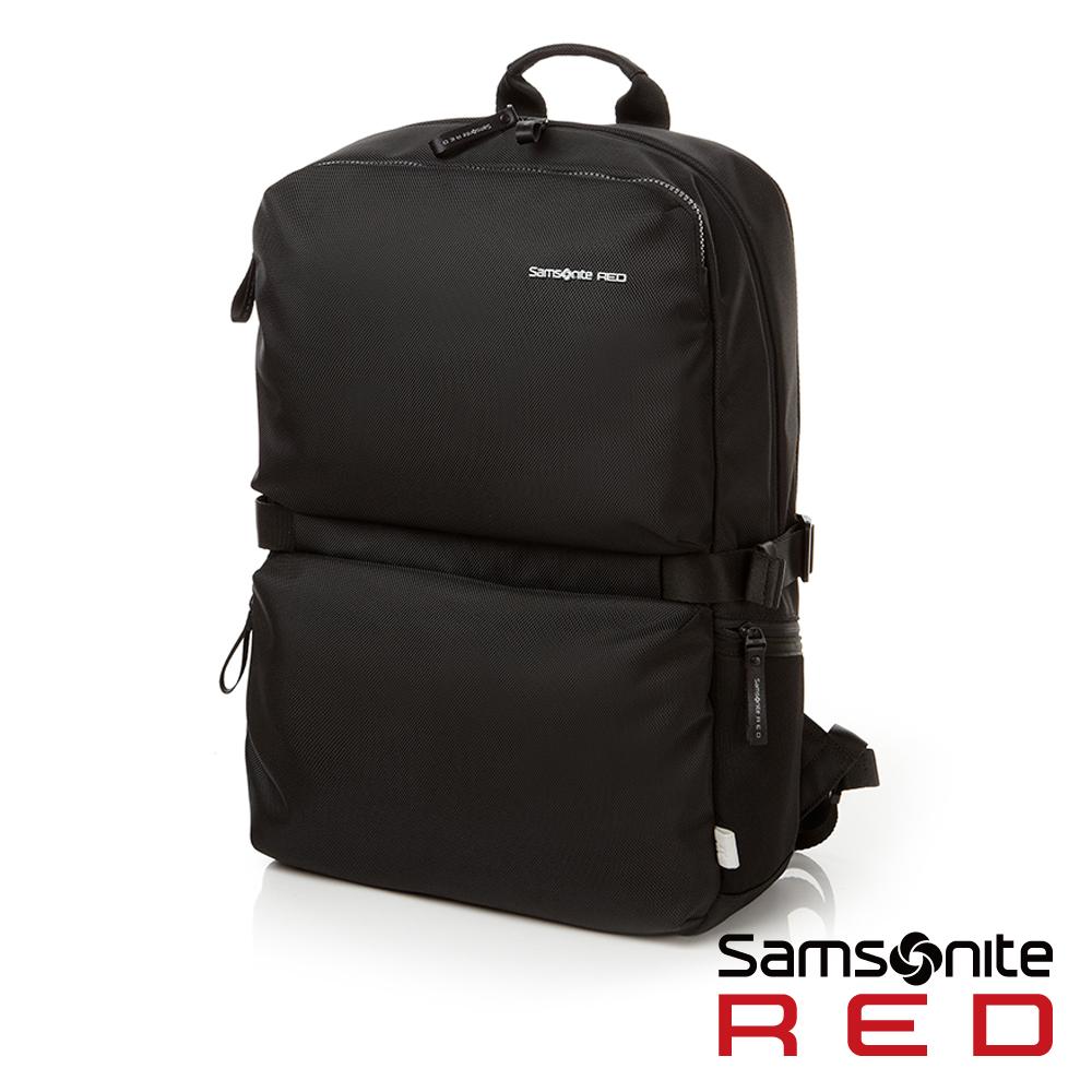 Samsonite RED CLOVEL造型潮流中性休閒筆電後背包L17吋(黑)