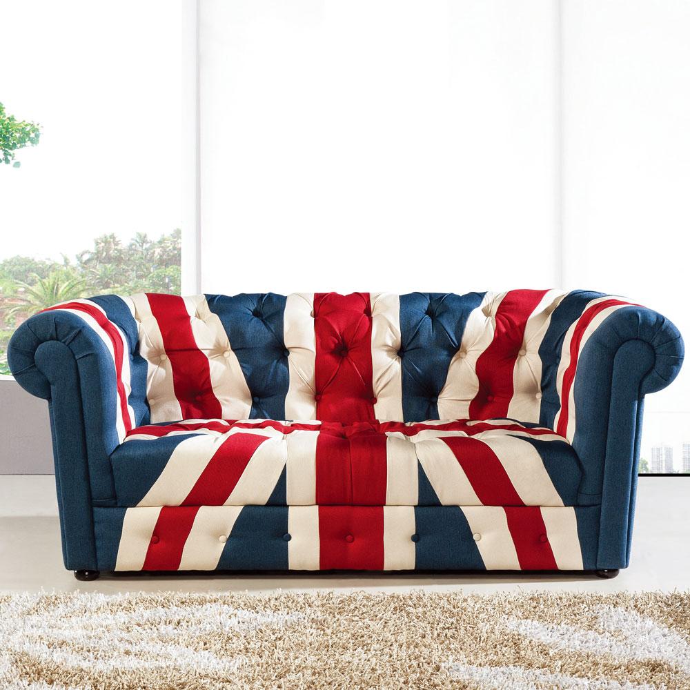 居家生活 路易斯英國旗三人沙發
