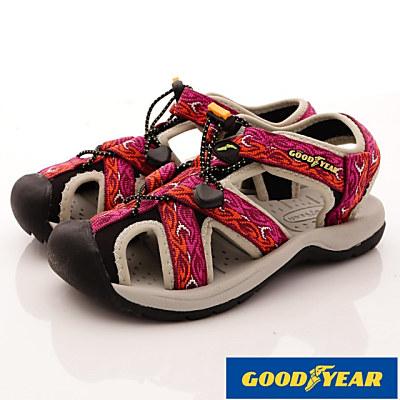 GOODYEAR-護趾運動涼鞋-SE2603紫(女段)