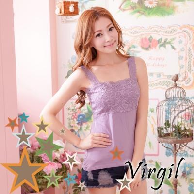 內搭 蕾絲平口內搭衣(紫) Virgil