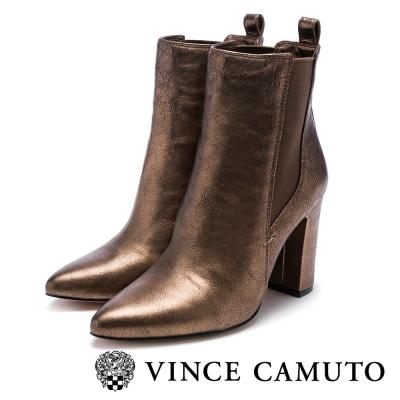 Vince Camuto 伸縮帶金屬高跟中筒靴-金色