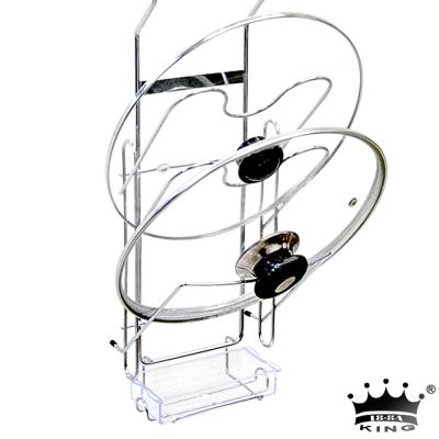 king不鏽鋼吊掛式三層大鍋蓋架(附集水盒)