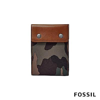 FOSSIL ETHAN真皮短夾-迷彩帆布