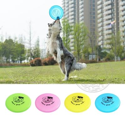 寵物粉彩塑膠飛盤1入 (有可愛的狗狗圖案)