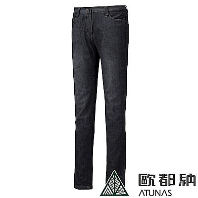 【ATUNAS 歐都納】女款SOFT SHELL薄牛仔風格長褲A-PA1431W黑