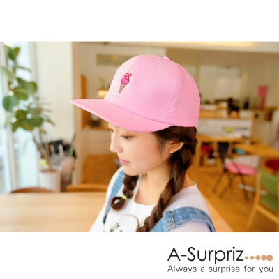 A-Surpriz-可愛冰淇淋棒球帽-粉