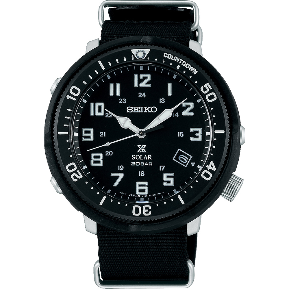 SEIKO精工 Prospex 4R35復古軍風限量錶(SBDJ027J)-黑/44mm