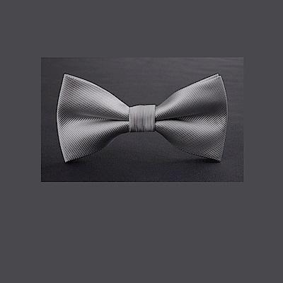 拉福 單細斜紋質感領結新郎結婚領結糾糾 (兒童銀斜紋)